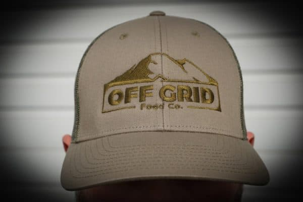 off grid food co green hat